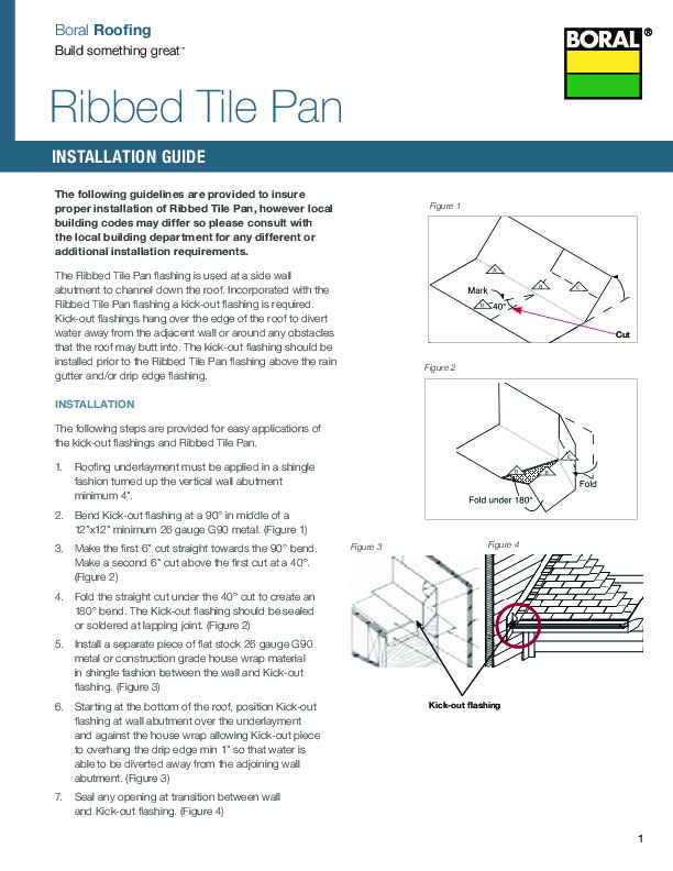 Ribbed Tile Pan Installation Guide - Boral Roofing