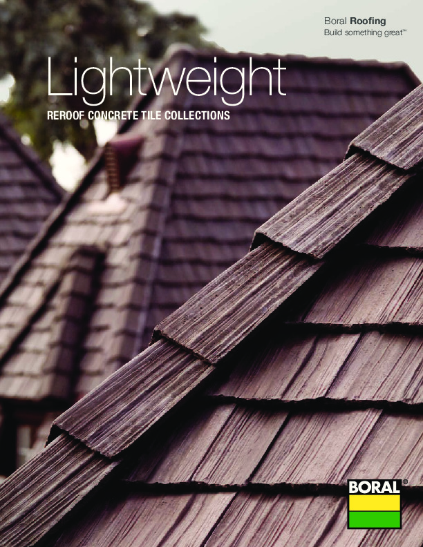Lightweight Concrete Roof Collections Brochure Boral Roofing