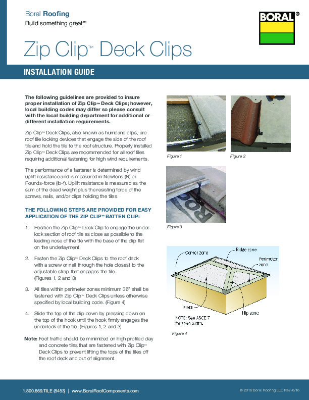 Zip Clip Deck Clips Installation Guide - Boral Roofing